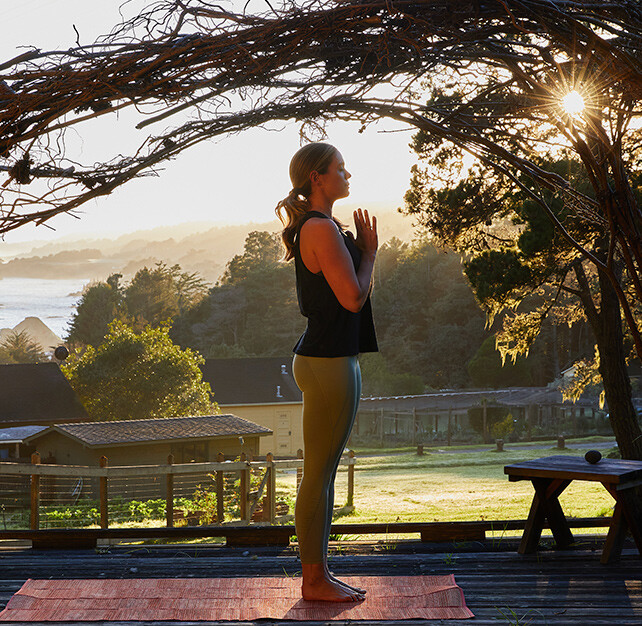 Outdoor yoga in nature