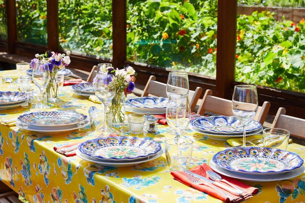 Festive Table setting for a celebration